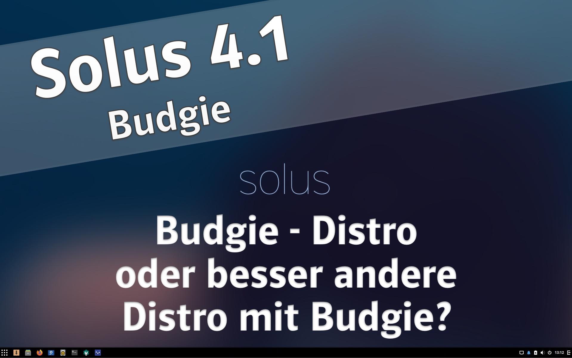 Solus 4.1 Budgie
